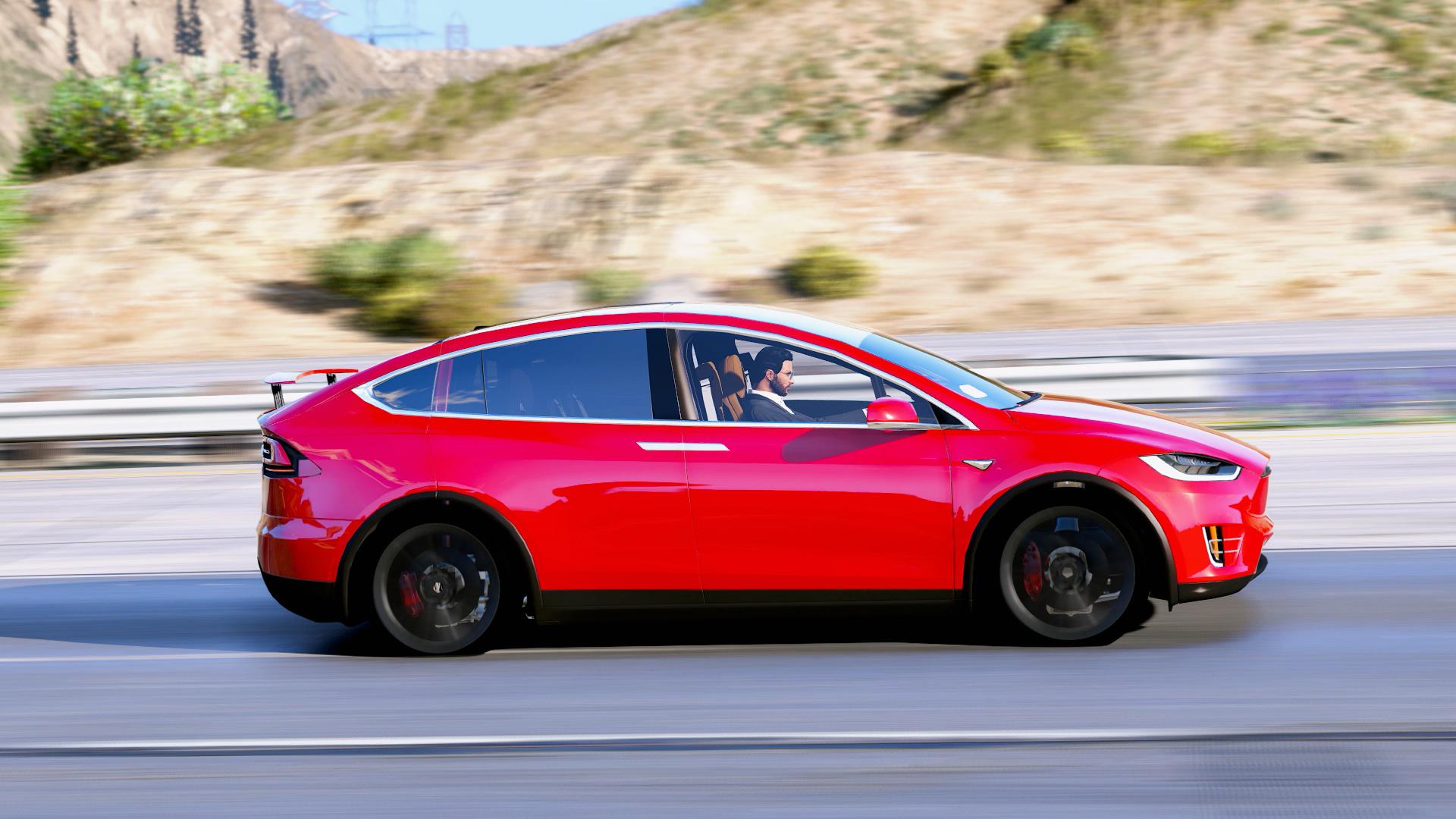 Tesla Model X P90d 2016 Add On Wipers Spoiler Hq Gta5 Mods Com